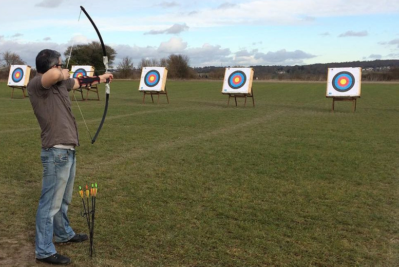 Image of £17 for a one-hour archery and skybow session for one person at Firefly Activities, Dartford, or £34 for two people
