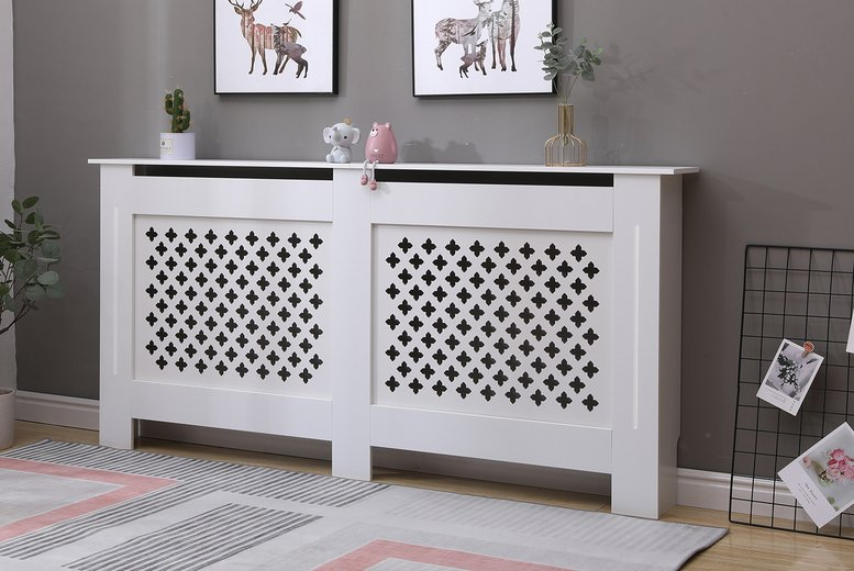 Image of From £24 instead of £42.99 for a small Malton white radiator cover, choose from four sizes from Dreams Outdoors – save up to 44%