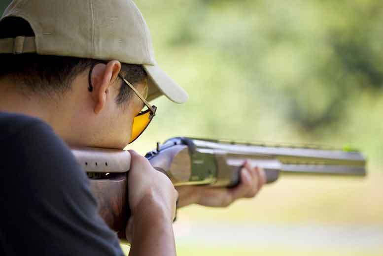 Image of £20 instead of £35 for a laser clay pigeon shooting session for one person, £38 for two people, or £74 for four people at Joe's Bows Country Sports, Faversham - save up to 43%