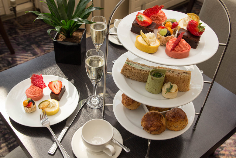 Image of £21 instead of £41.90 for an afternoon tea for two people at Corus Hyde Park Hotel, or £29 with a glass of Prosecco each – save up to 50%