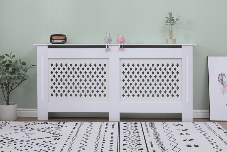 Image of From £24 for a small Cambridge white radiator cover, choose from four sizes from Dreams Outdoors - save up to 44%