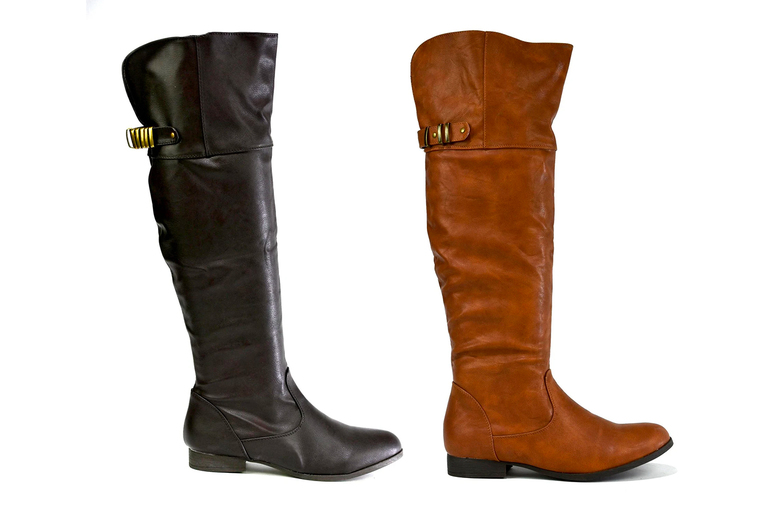 Image of £12.99 for a pair of women's faux leather riding boots in UK sizes 2-9 from Shoe Fest
