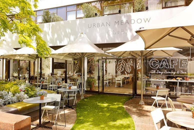 Image of £39 instead of £80 for a three-course brunch for two people with a bottle of Prosecco to share at Urban Meadow Cafe & Bar, Doubletree By Hilton Hyde Park, or £49 for 'bottomless' Prosecco - save up to 51%