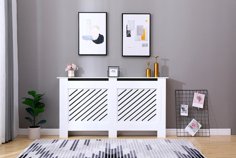 Image of From £27 instead of £42.99 for a Milford small white radiator cover, £36 for a medium, £47 for a large or £52 for an extra-large from Dreams Outdoors - save up to 37%