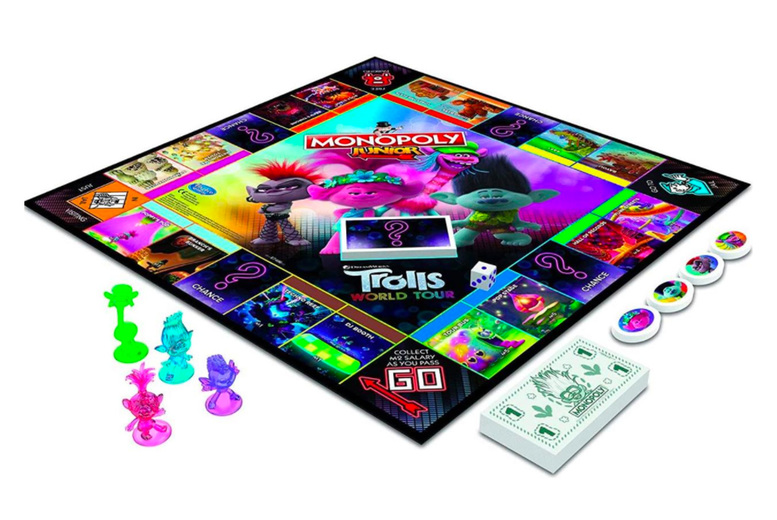 Image of £22.99 for a Monopoly junior Troll World Tour edition board game from Spire Tech