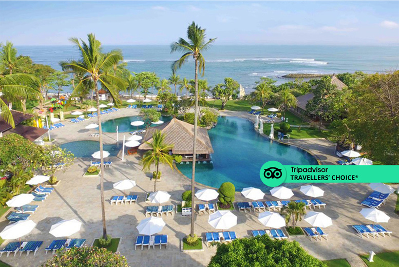 Image of A Bali, Indonesia hotel stay with return flights from four airports. From £699pp for seven nights, from £759pp for 10 nights, or from £819pp for 14 nights - save up to 21%