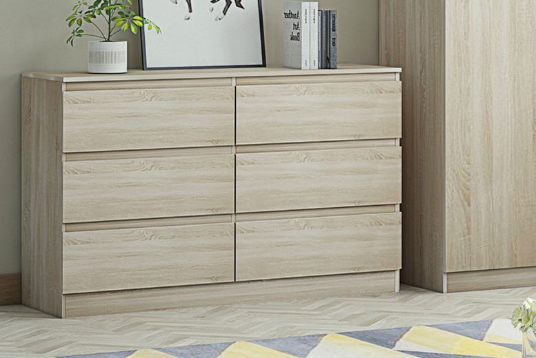 Image of £99 instead of £169.99 for a chest of six drawers from IQGB! - save 41%