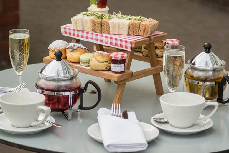 Image of £19 instead of £40 for an afternoon tea for two people at Urban Meadows within 4* Doubletree By Hilton, Hyde Park, £24 including a glass of Prosecco each or £29 for a bottle to share - save up to 53%