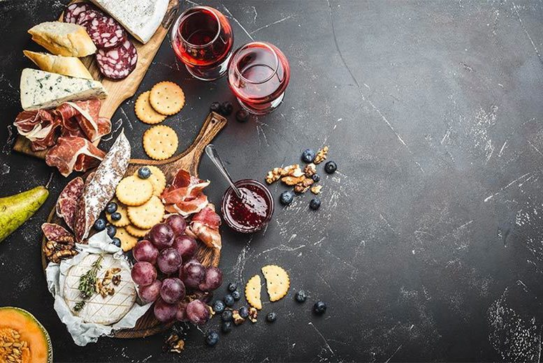 Image of £15 instead of £37.50 for a charcuterie board and bottle of wine for two people to share at Le Cassis Wine Bar, Salford - enjoy an assortment of meat and cheeses and save 60%