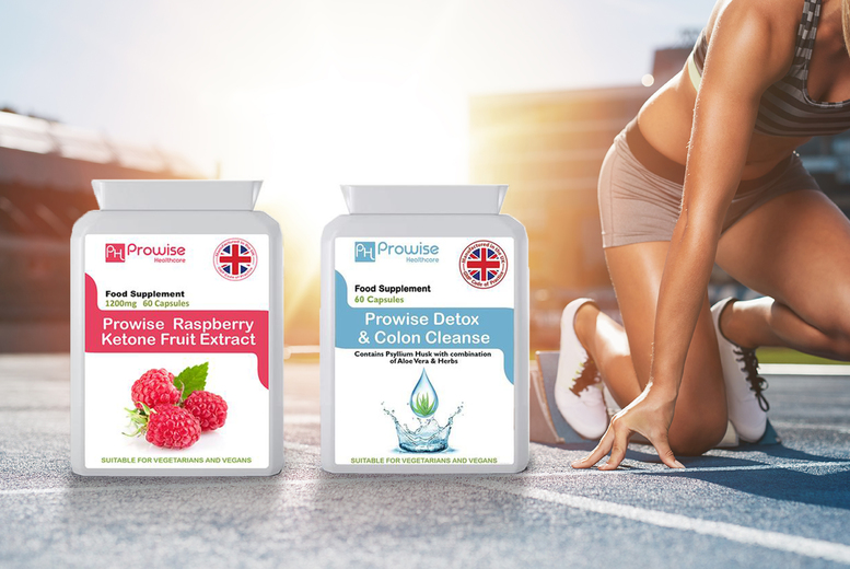 Image of From £12.99 instead of £39.99 for one-month supply* raspberry ketones colon cleanse supplements, choose from three options from Prowise Healthcare Ltd – save up to 68%