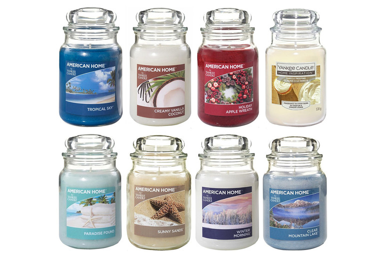 Image of £12.99 for a 19oz American Home by Yankee Candle scented candle in a glass jar from Eurotrade Ltd!