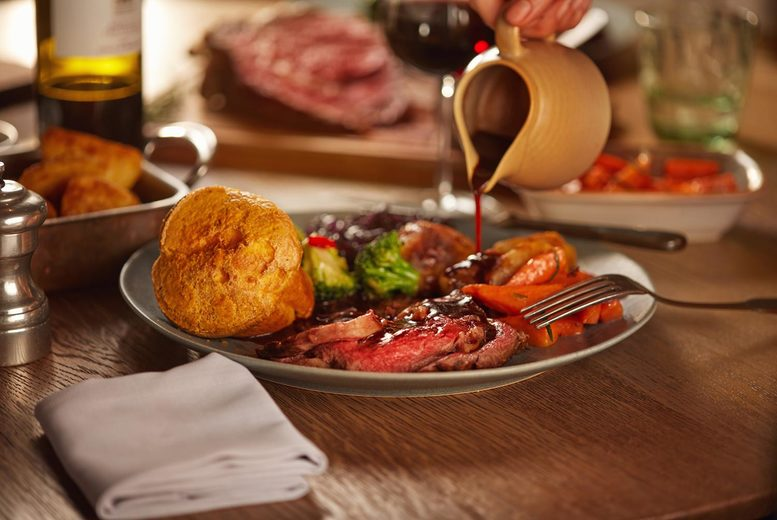 Image of £16 instead of £31.90 for a Sunday lunch for two people with dessert each at The Ladbrooke Hotel, Birmingham. £22 to include one child, or £28 to include two children - save up to 50%