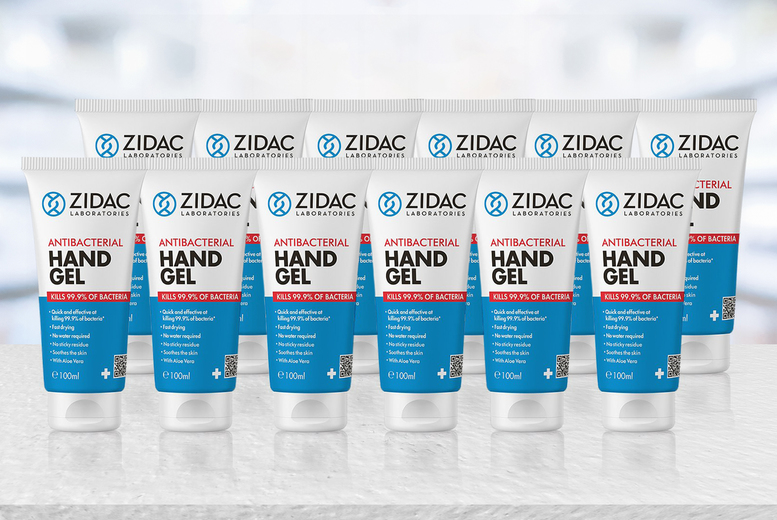 Image of From £10.99 for three Zidac anti-bacterial hand gel, choose from three options from GMS ltd!