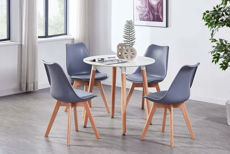 Image of £29 instead of £80 for one dining chair, £45 for two chairs or £82 for four chairs in black, white or grey from Home Design International - save up to 64%
