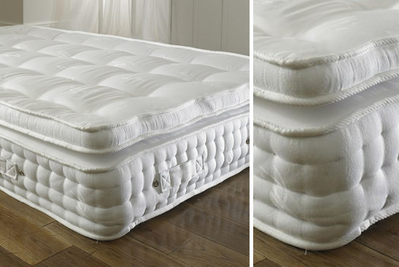 Image of From £119 for a 2000 pocket spring organic pillow mattress from Dining Tables - save up to 57%