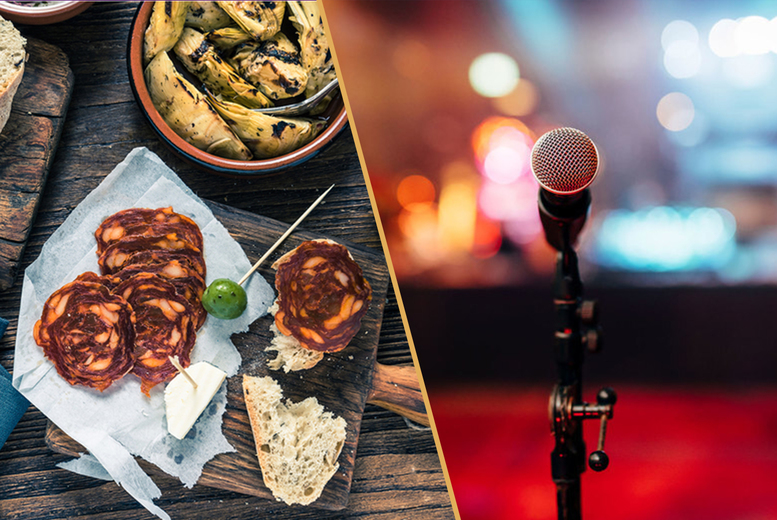 Image of £29 for four tapas plates, churros and a jug of sangria for two people to share at Salvador & Amanda and a live comedy night at Covent Garden Comedy Cellar - save up to 66%