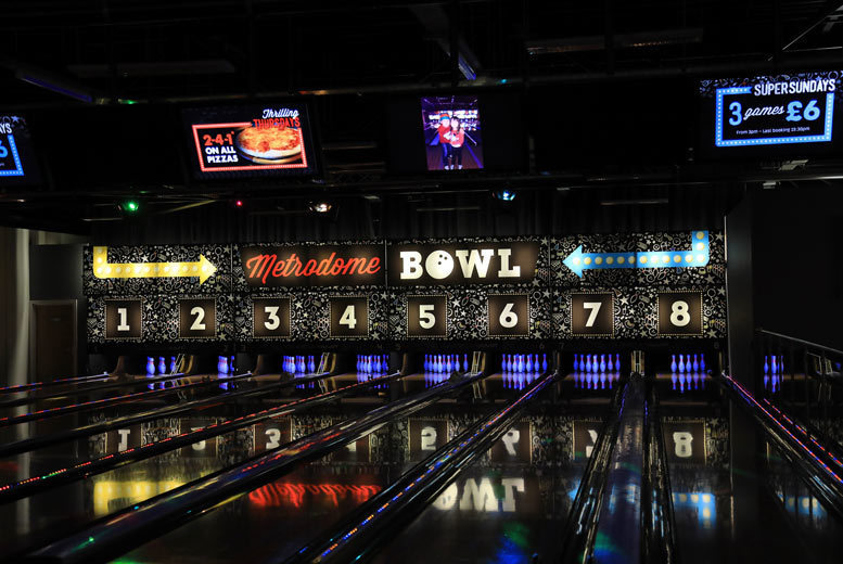 Image of £9 instead of £22 for one game of bowling for up to four people at Metrodome Bowl, Barnsley, or £12 for one game for up to six people - save up to 59%