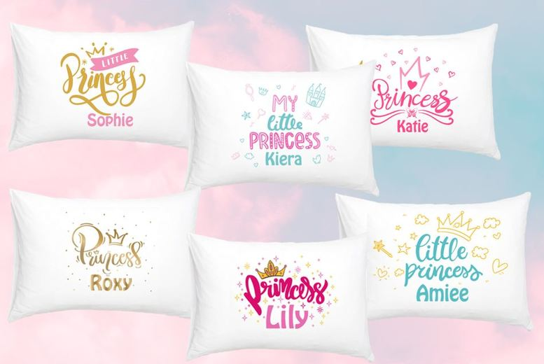 Image of From £3.99 for a personalised pillow case - choose from six princess designs from Fab Deco Ltd - Deco Matters - save up to 73%