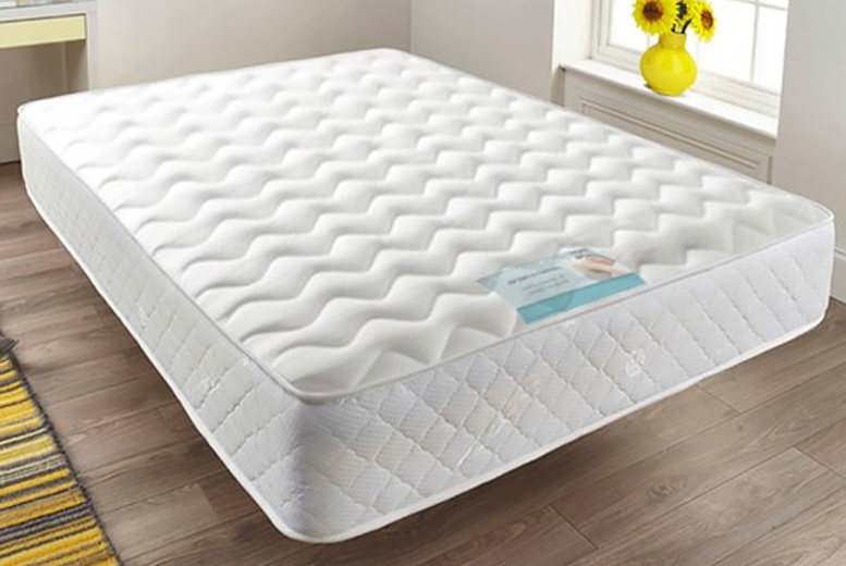Image of From £44 for a quilted sprung memory foam mattress from Dining Tables- choose from six sizes and save up to 70%