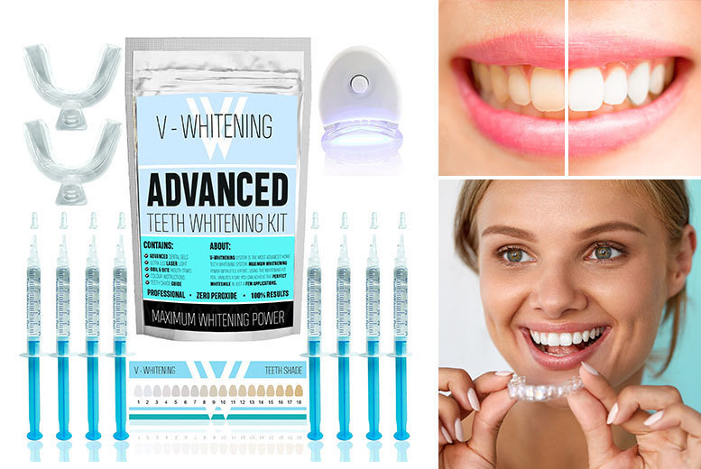 Image of £9.99 instead of £49.95 for a six-gel teeth whitening kit, £11.99 for an eight set from iGojii - save 80%