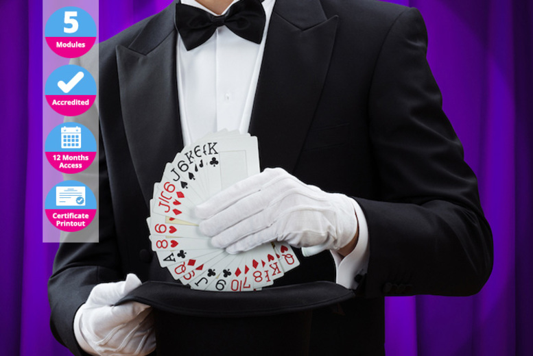 Image of £12 instead of £99 for a card magic online course from International Open Academy– learn fascinating tricks and save 88%