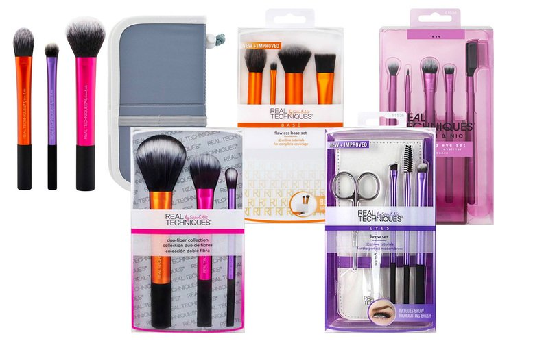 Image of £12.75 instead of £17.20 for a selection of Real Techniques makeup tool kits - save up to 36%