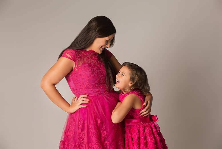 "Image of £9 instead of up to £220 for a mother and daughter makeover and photoshoot including one 8"" x 12"" print, one 5"" x 7"", a CD or download plus £100 in vouchers from Catwalk - choose from over 70 locations and save up to 96%"