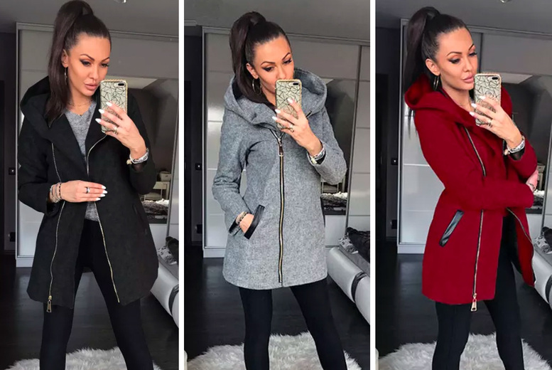 Image of £12.99 for a women's long hooded coat from I-nod!