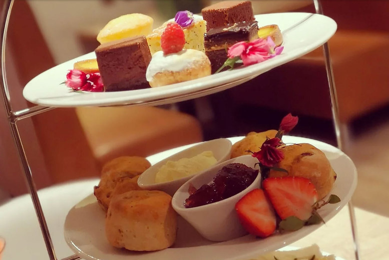 Image of £19 instead of £40 for a Festive afternoon tea for two people with a cocktail each at The Lobby on Hill Street, Birmingham - save 53%