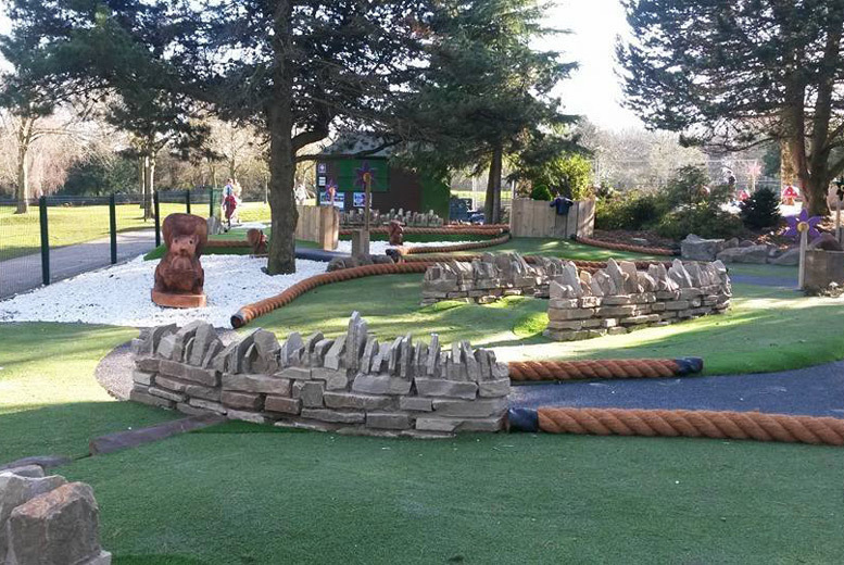 Image of £5 instead of £12 for an 18-hole adventure golf game for two people, or £9 for a family of two adults and two children at Walton Hall & Gardens, Warrington - save up to 58%