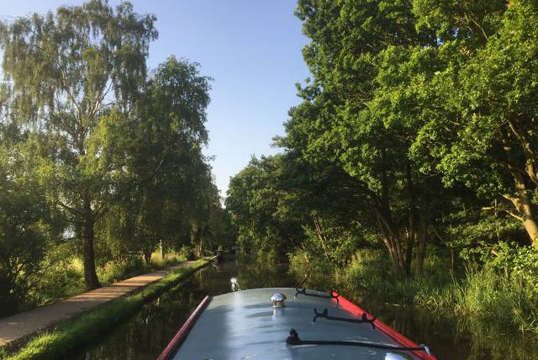 Image of £29 instead of £36 for a 90-minute canal cruise for two at Lancashire Canal Cruises, Ormskirk including afternoon tea and a glass of wine each - save 19%