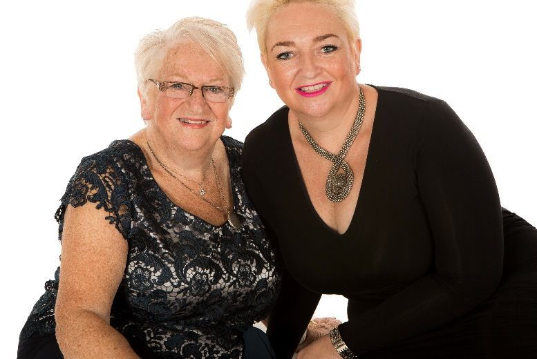 "Image of £9 for a Christmas mother & daughter photoshoot from Memories Portrait Photographers including two 8"" x 10"" prints, two keychains and £100 voucher"