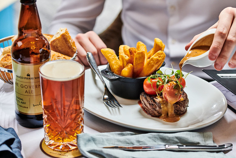 Image of From £19.95 for two-course dining for two people at Marco Pierre White - choose from 12 delicious dining locations across the UK and save up to 49%