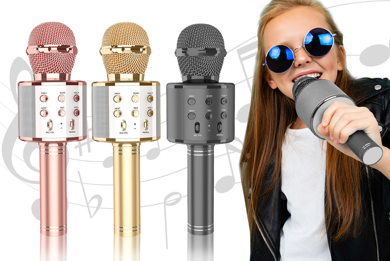 ?7.99 for a wireless karaoke microphone and speaker