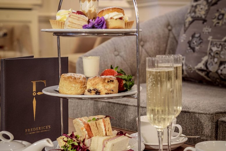 Image of £25 instead of £50 for a traditional afternoon tea for two people at Doubletree by Hilton Majestic Hotel, Harrogate. £50 for four people, or from £29 to include a glass of Prosecco each - save up to 50%