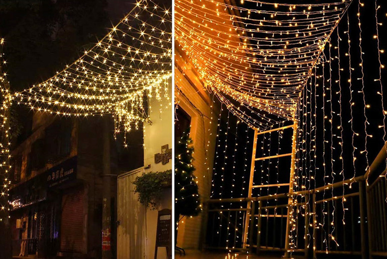 Image of From £6.99 instead of £27 for a set of LED curtain string lights with 200 or 300 LEDs from Arther Gold - save up to 74%