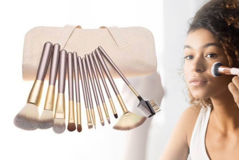 ?8.99 instead of ?22 for a 12pc Champagne Makeup Brush Set from Forever Cosmetics - save 59%