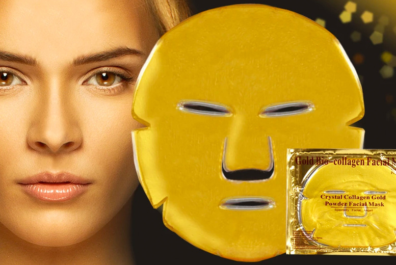 ?7.99 instead of ?49.99 for 10 gold collagen face masks and a protective shower cap from Forever Cosmetics ? save 84%