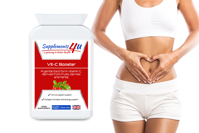 Image of From £12.99 for a three-month supply* of Vit-C booster supplement capsules, choose from three options from Supplements4u!