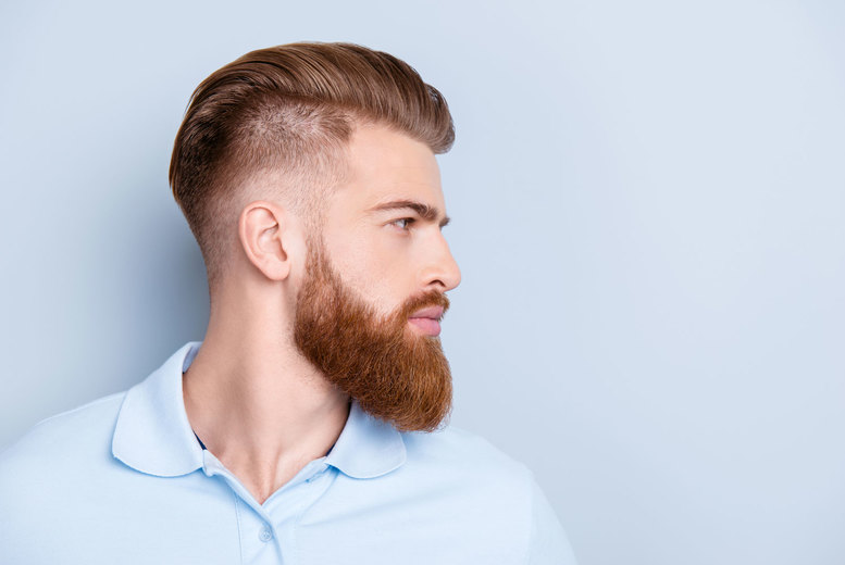 Image of £19.99 instead of £45 for a men's cut and finish plus a beard shaping, oils, hot towel and brow shaping from Joseph Elliott Hairdressing, Manchester - save 56%