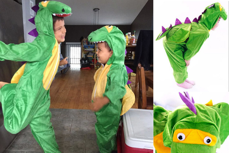 Image of £14 instead of £39.99 for a children's dinosaur fancy dress costume from Flashing Pineapple - save 65%