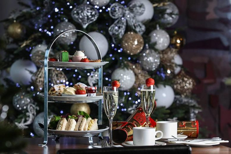 Image of £25 instead of £50 for a festive afternoon tea for two people with a bottle of Prosecco to share at Ladbrooke Hotel, Birmingham – save 50%