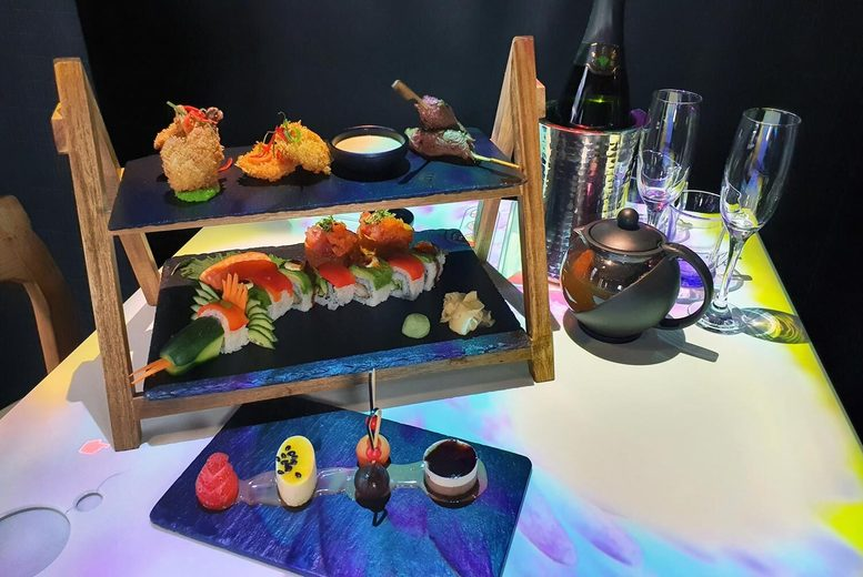 Image of £19 for an interactive afternoon tea at Inamo, £24.95 to include a glass of sparkling wine, or £29.95 including one-hour 'bottomless' sparkling wine - choose from two locations and save up to 54%