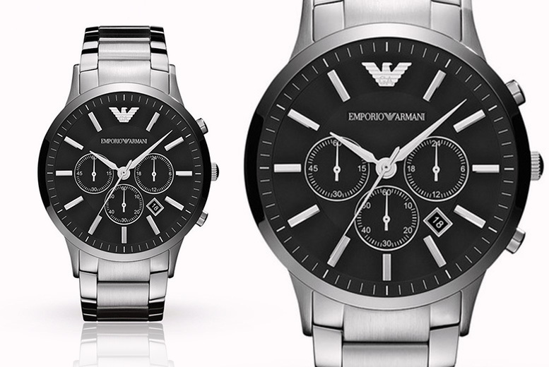 Image of £109 instead of £299 for a men's Emporio Armani Stainless Steel AR2460 chronograph watch - save 64%
