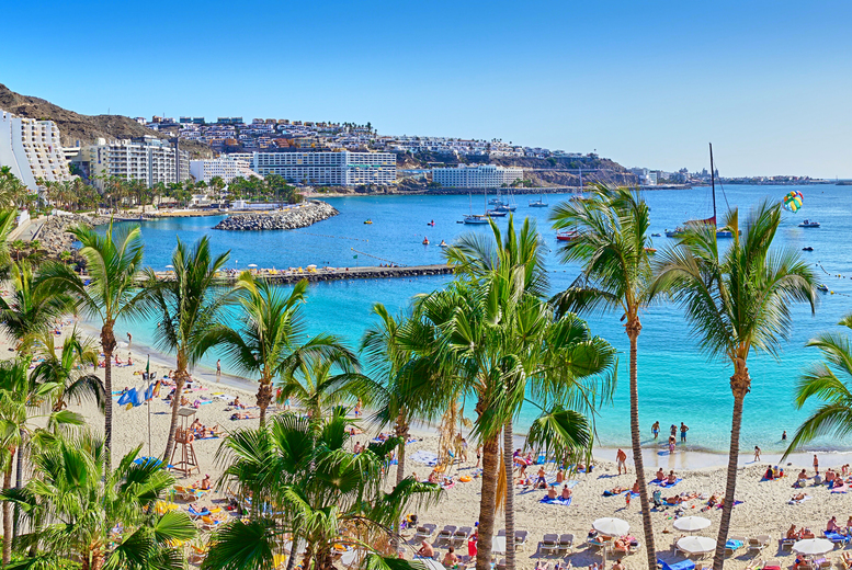 Image of A Gran Canaria, Spain apartment stay and return flights from six airports. From £139pp for three nights, from £179pp for four nights, from £219pp for five nights, or from £289pp for seven nights - save up to 31%