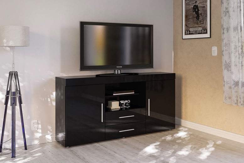 Image of £199 instead of £285 for a two door two drawer TV stand from Envisage Home - save 30%