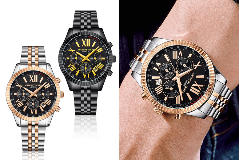 Image of £29.99 instead of £645.01 for a luxury men's Anthony James chronograph sports watch from Timepieces - save 95%