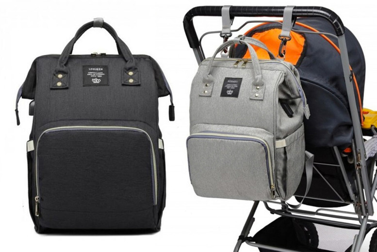 Image of £12.99 instead of £76 for a large diaper changing bag in black or grey from TopGoodChain – save 83%