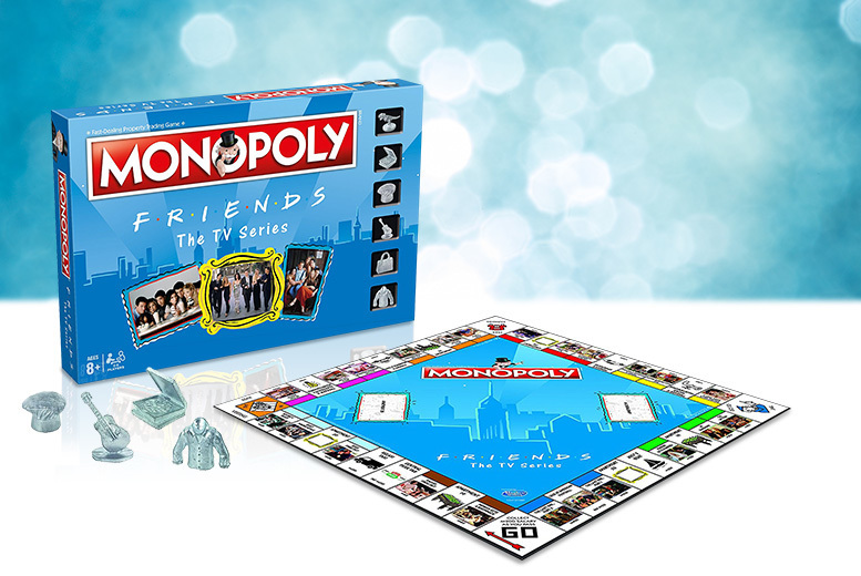 Image of £29.99 instead of £46 for a Friends Monopoly game from Bubble Bedding - save 35%