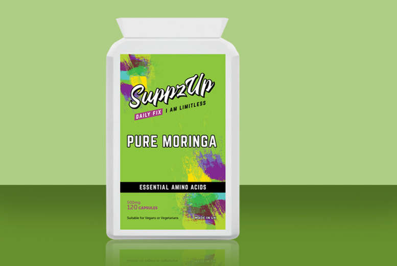 ?8.99 instead of ?29.99 for a four month supply* of SuppzUp Moringa capsules from Forever Cosmetics - save 70%